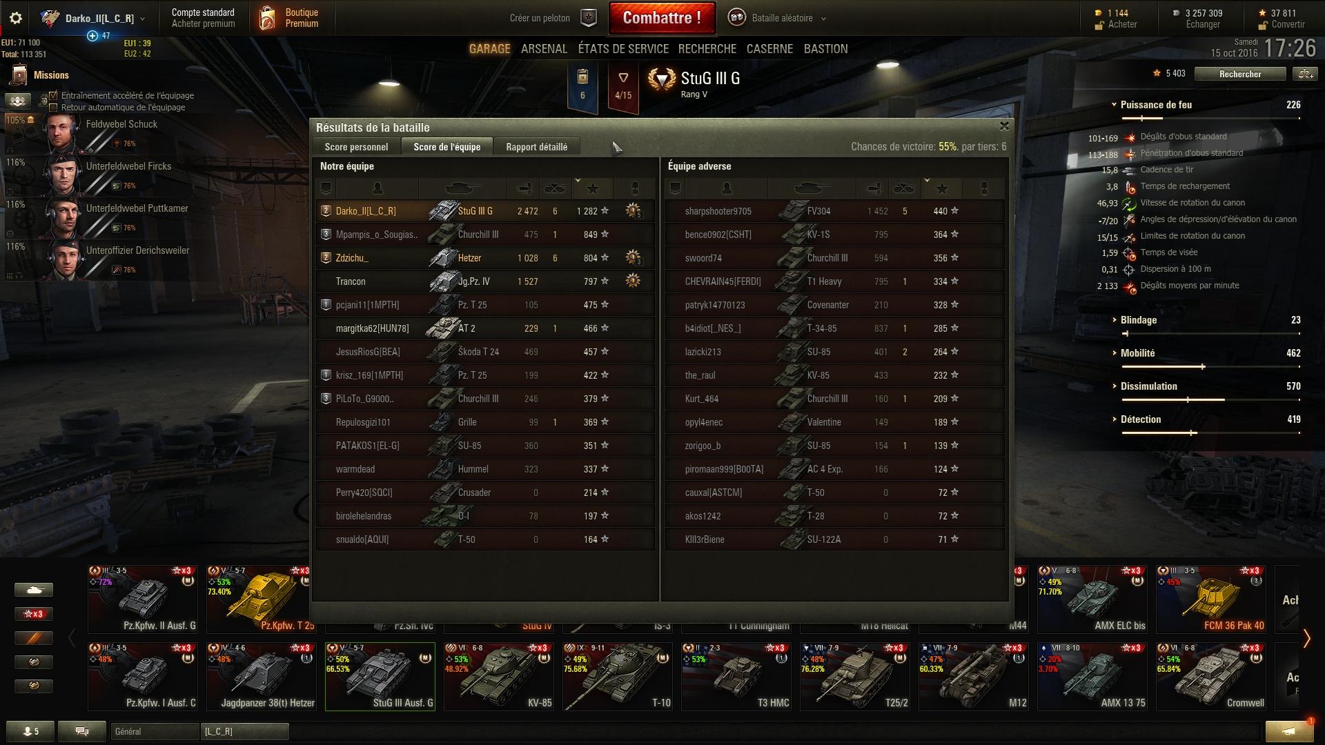 Stug III G - 2.5k dégâts - Une de mes meilleures parties depuis que je joue à WoT 433582shot009