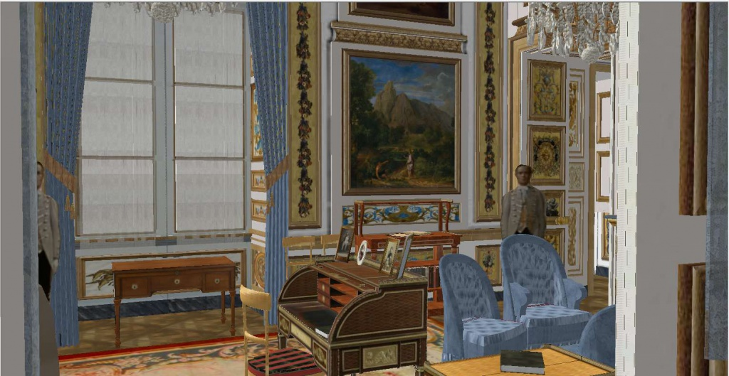 Reconstitution virtuelle du Palais des Tuileries, états Premier Empire et Second Empire 435207depuispassage