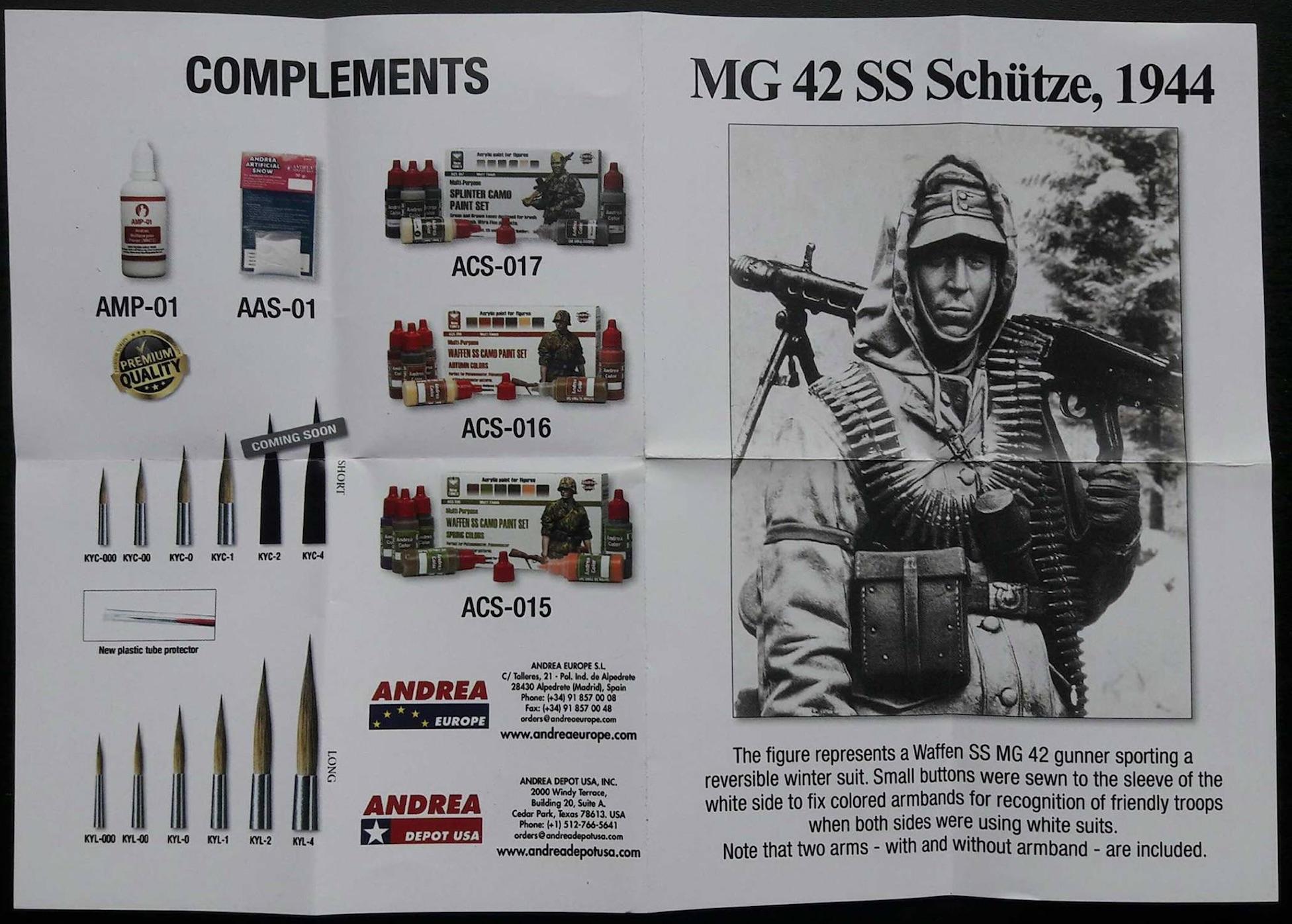 MG 42 SS Schütze 1944 - 1/35ème 441806FigSS3