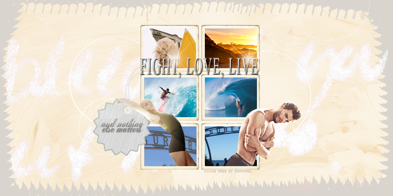 ❝ fight, love, live