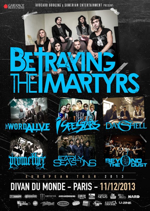 11.12 - Betraying The Martyrs + guests @ Paris 45526220131211BTM