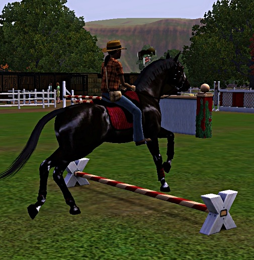 "[Challenge] Teens and Horses ""Sims 3"" - Page 3 455963entrainementausaut1"