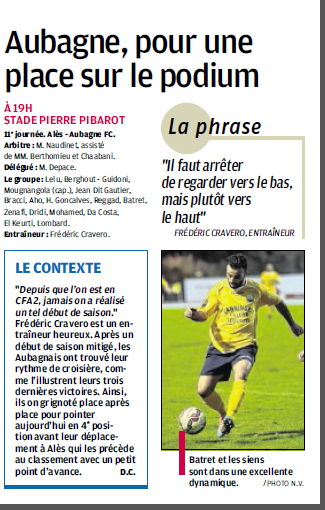OLYMPIQUE D'ALES // CFA2  GROUPE E  - Page 12 458578385B