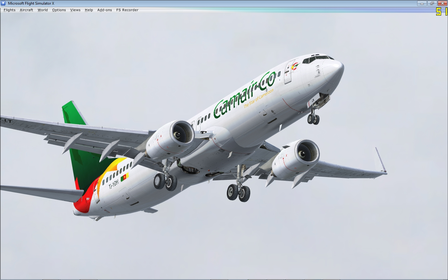 """Cameroonising Heavily"" Flight Simulator for a while now... 491301NGX6"