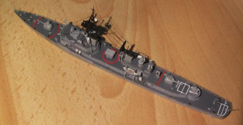 USS Charles F. Adams 1/700 492777IMG0577