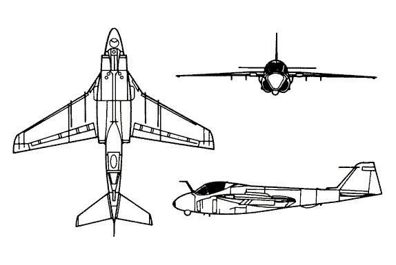 BOEING F/A-18E et F SUPER HORNET  496049GrummanA6IntruderCT