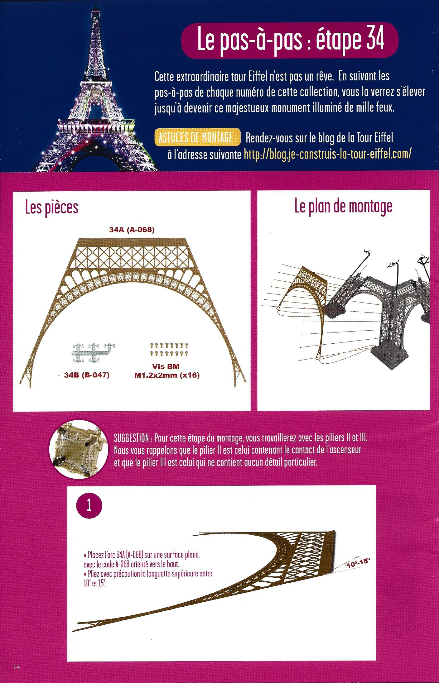 Numéro 34 - Je construis la Tour Eiffel - La tour selon les quatre saisons 50214434b