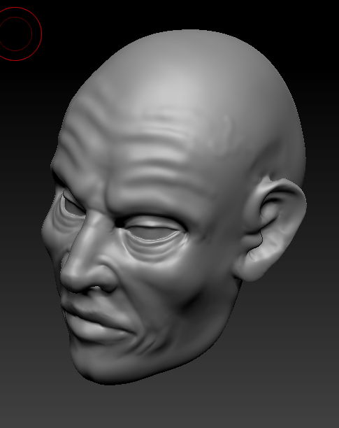3D with Zbrush. 503422visage3quarts2