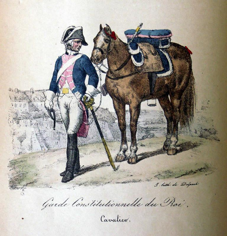 10 août 1792 : la prise des Tuileries et la Garde Constitutionnelle du Roi 506906VernetLamiTafel53
