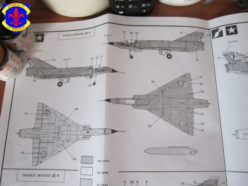 Mirage III E/R/5/BA de Heller au 1/72 524235IMG36221