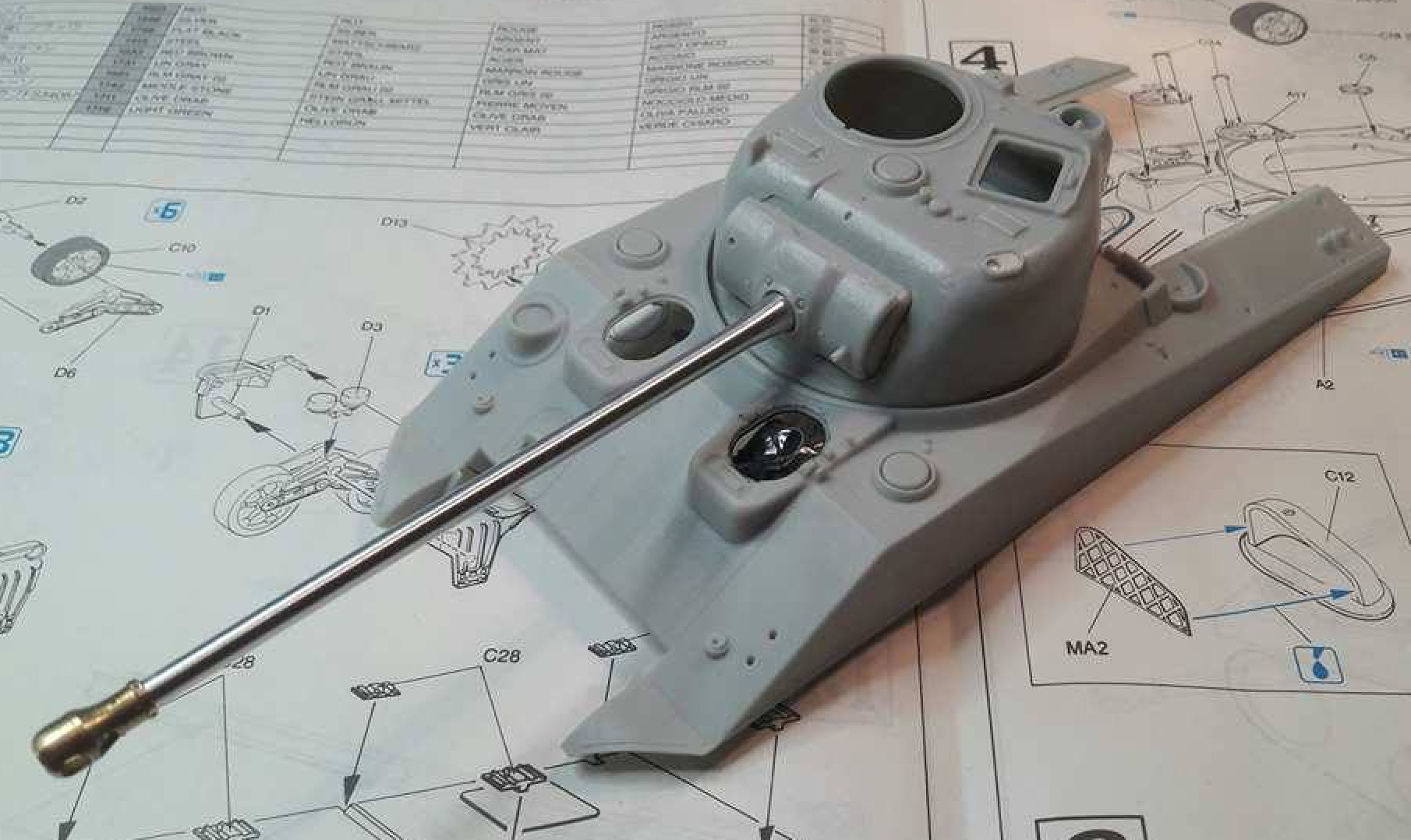 Sherman Vc Firefly - 1/35ème - kit Dragon #6031 Sherman Vc 'Firefly' 528225TestCanonAlu1