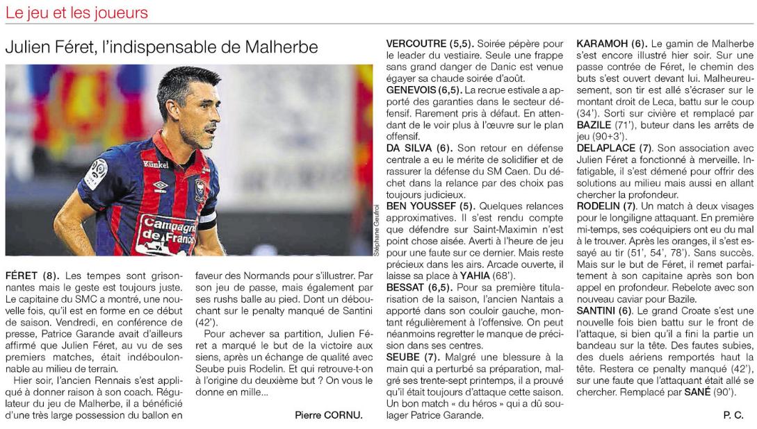 [3e journée de L1] SM Caen 2-0 SC Bastia 529896notes