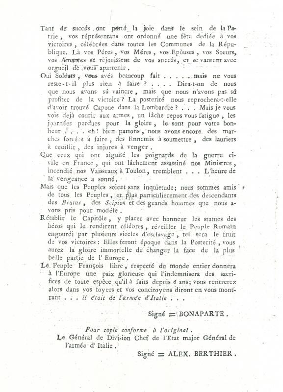 La campagne d'Italie en 1796 544496CCI1103201400001