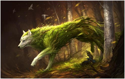 Créatures mythiques et légendaires 560040LoupNatureBG