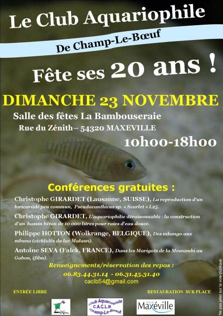 20 ans du Club de Champ-Le-Boeuf - dimanche 23 novembre 2014 560394clubaquariophile20ans1
