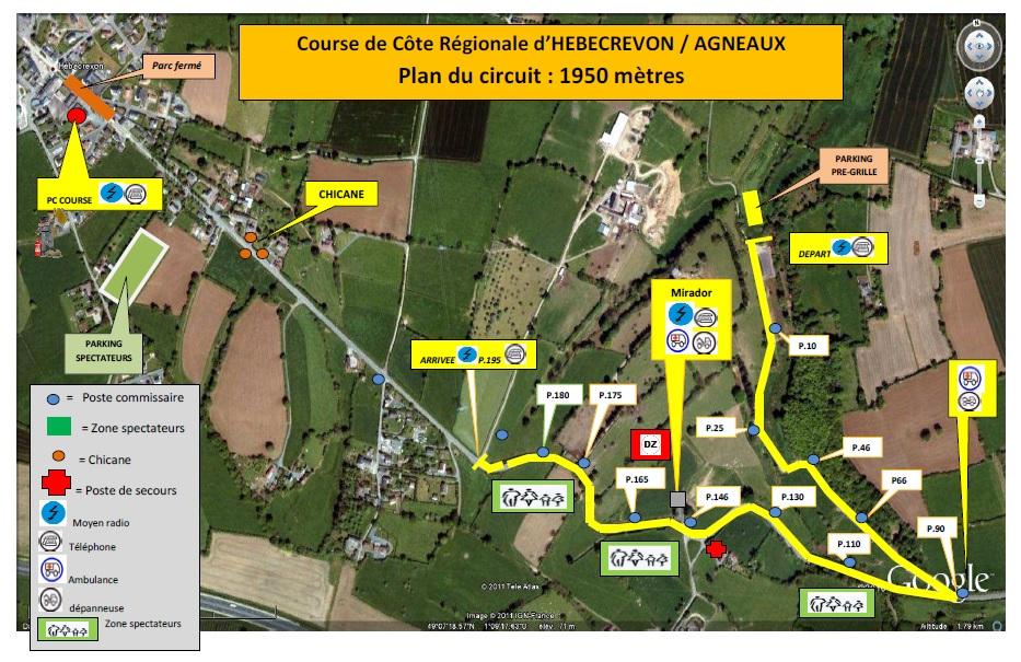 35ème Course de Côte Régionale de Thereval / Agneaux 25 et 26 mars 2017 5632722017planducircuithebecrevon