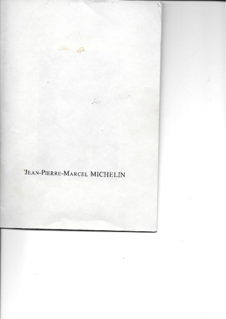Livret Jean-Pierre MICHELIN  584734941