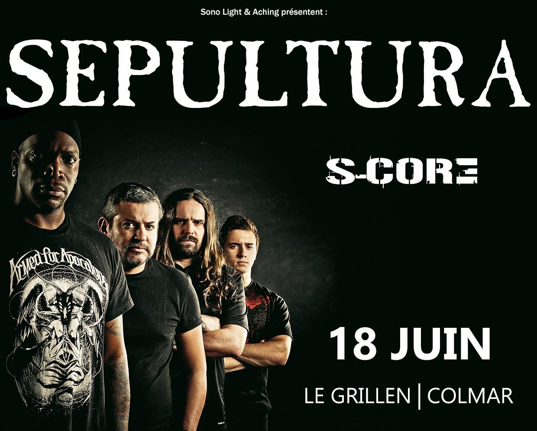 SEPULTURA +S-CORE le 18 juin au grillen de colmar 587210FlySepulturaBDM3