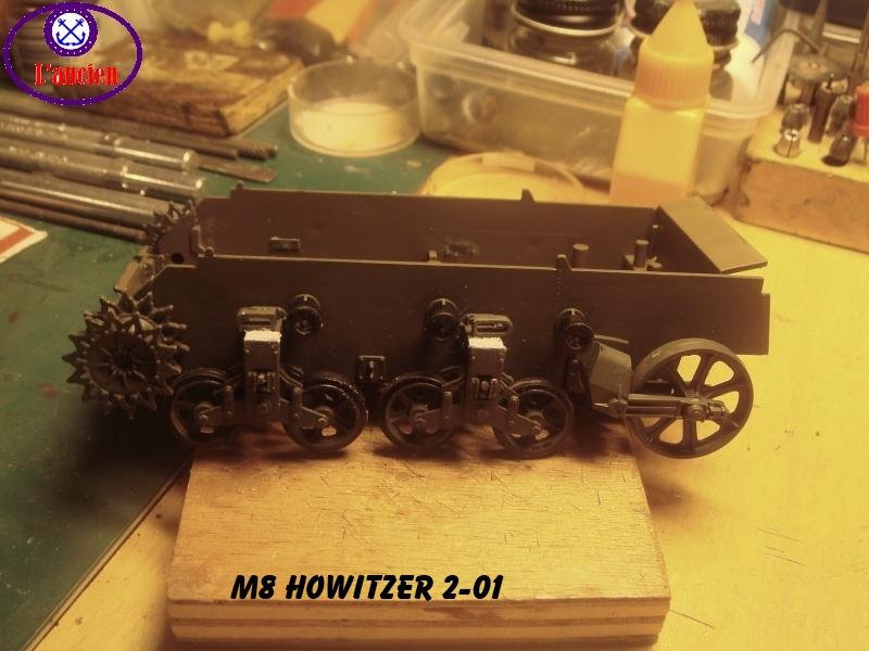 M8 US Howitzer  au 1/35 par l'ancien 592596m8201