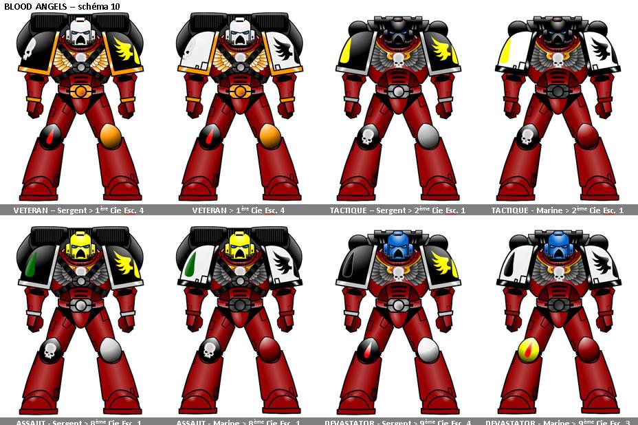 [Warhammer 40000] Schémas de couleurs pour les Space Marines Impériaux 597693schema005
