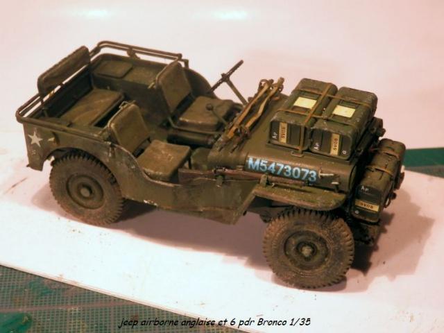 6 pdr ,jeep ,équipage airborne Bronco 1/35 (sur la route de Ouistreham) 598040P5060111