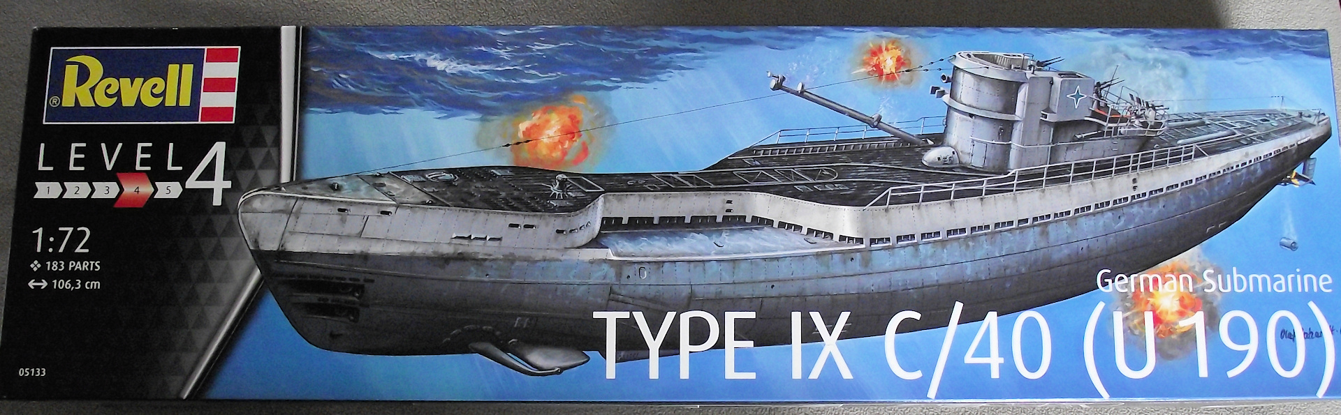 U Boot type IX 1/72 revell 605589UbootRevell1x721