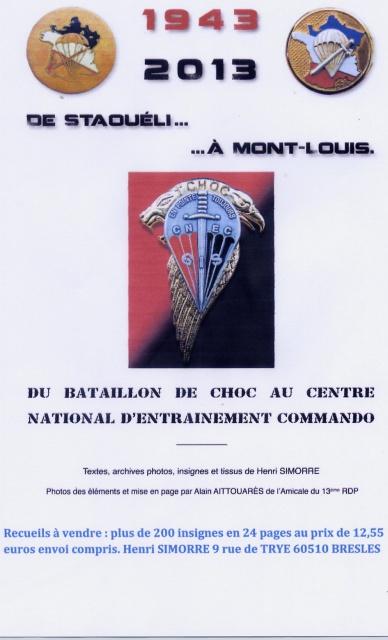 DE STAOUELI à MONT-LOUIS  1943-2013.... 607020PubRecueil