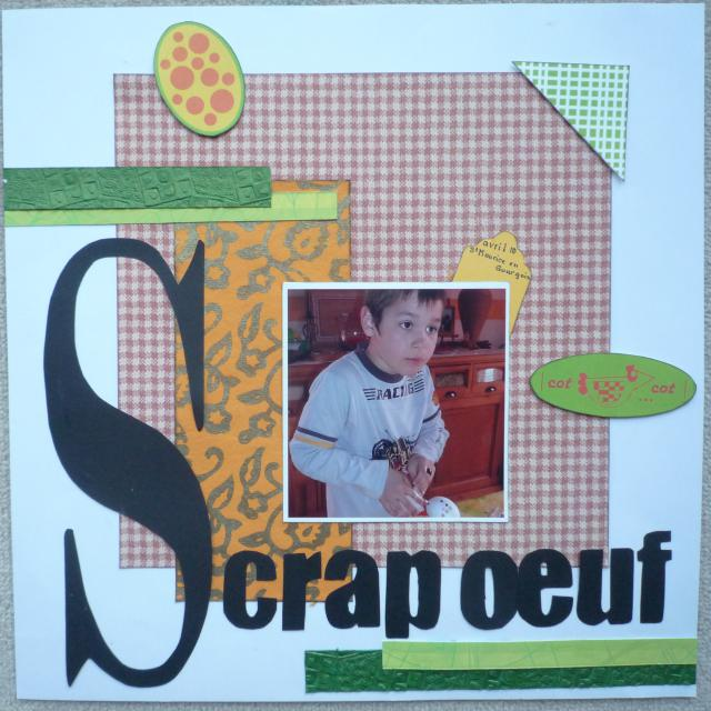 Scrap oeuf 607557scrap0052