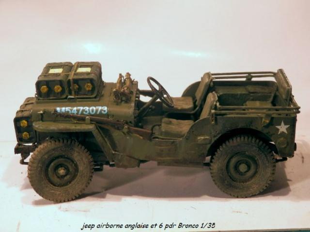 6 pdr ,jeep ,équipage airborne Bronco 1/35 (sur la route de Ouistreham) 607881P5060109