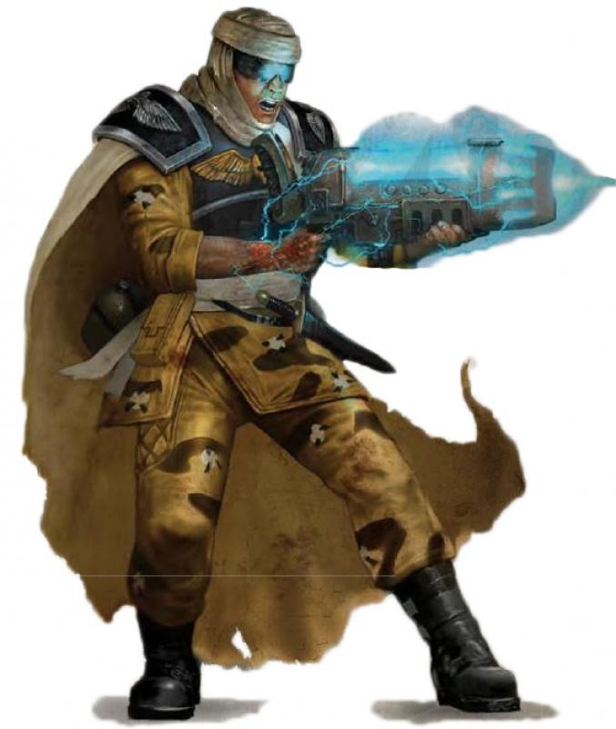 [W40K] Collection d'images : La Garde Impériale 608606TallarnDesertRaiderPlasmaGun