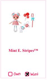 [WISHLIST DOLLYLY] Cupcakes-Mini Lalaloopsy-Cherry Merry Muffin-Polly Pocket-MLP 615389mintestripes