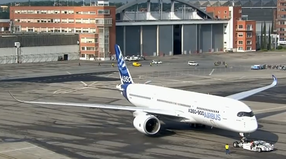 Vol d'essai de l'A350 615494a3502