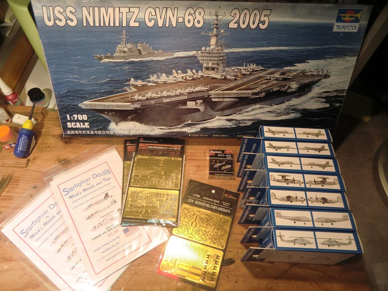 CVN 68 USS Nimitz Trumpeter 1/700  620392Nimitz2