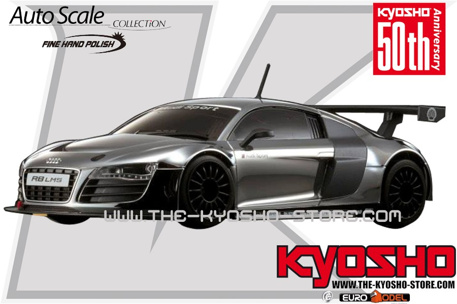 (Miniz) AUTOSCALE AUDI R8 CHROME LIMITED EDITION 50TH ANNIVE 629593kyoshoautoscaleaudir8chromelimitededition50thanniversarymzp419csimage30704grande