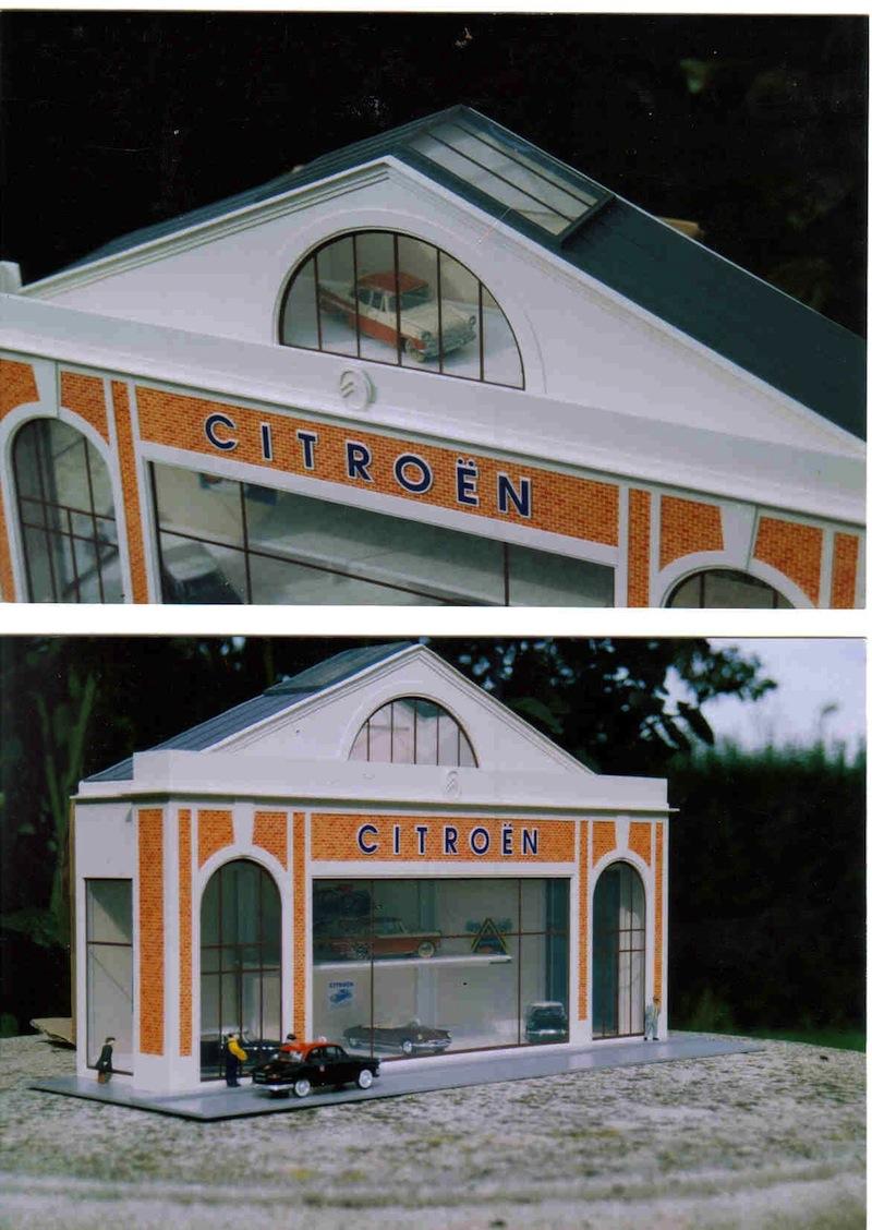 Hervé WAGUET Garages et bâtiments divers miniatures au 1/43 631417citroshowroomparis5