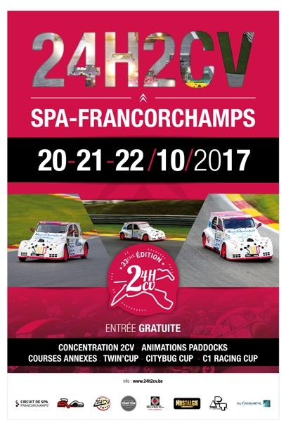 24 h 2cv Francorchamps 2017 631722Affiche24h2cv2017