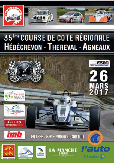 35ème Course de Côte Régionale de Thereval / Agneaux 25 et 26 mars 2017 651373affichetheagn17