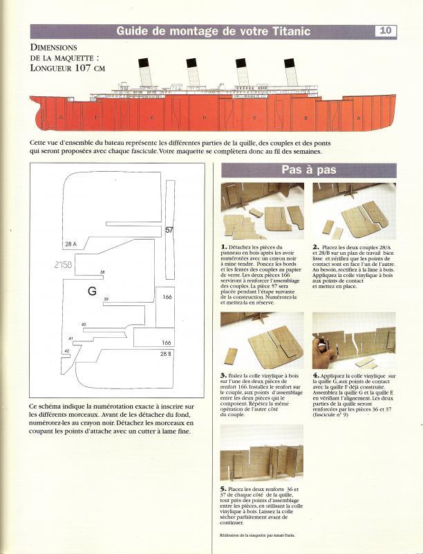 RMS Titanic 1/100  plans MRB - Page 2 658070Fascicule10