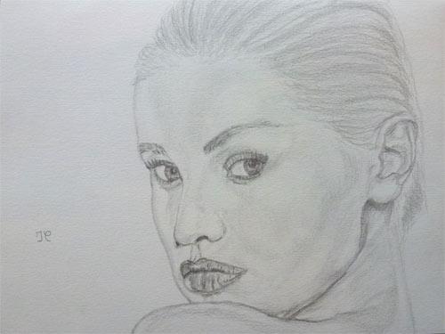 Adriana Karembeu.(Portrait au crayon 24X18) 667168AdrianaKarembeuw