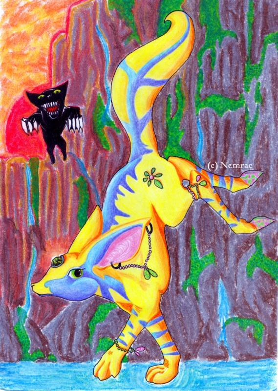 Dragons, chimères et créatures arc-en-ciel 668035escarboucle