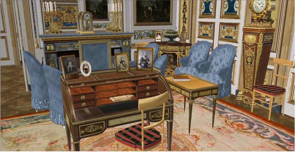 Reconstitution virtuelle du Palais des Tuileries, états Premier Empire et Second Empire 671617vue7