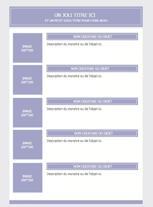 [Facile] Exercice 4 - Fiche - Ori 678367codeinventairebestiaire
