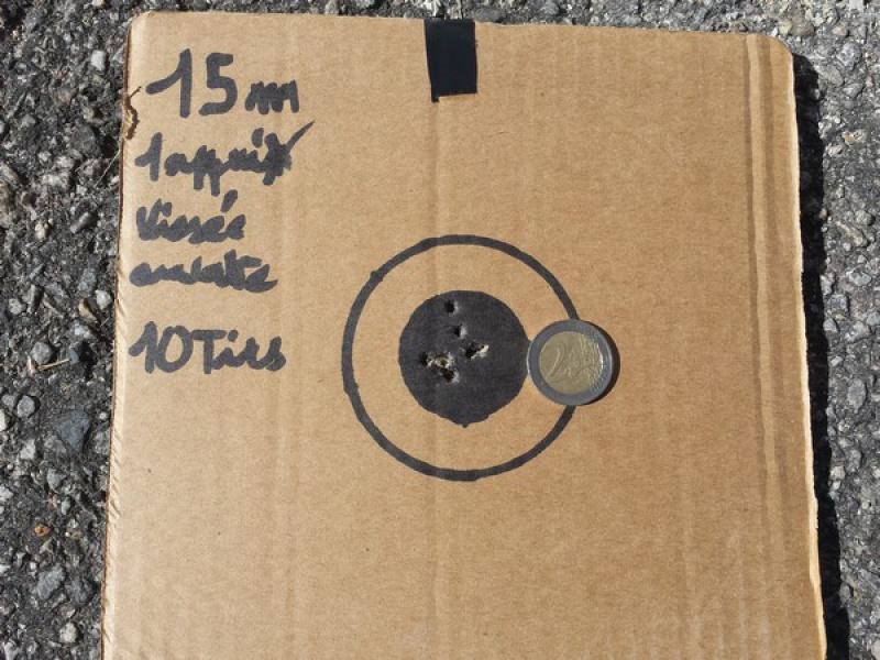 HW77 + lunette 4/12X40 sortie de carton et premiers cartons ! 10 à 50 m 67996420160729174447