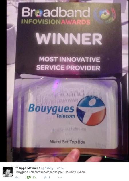 "Bbox Miami récompensée au ""Broadband InfoVision Awards 2014"" 680277broadbandinfovisionawards"