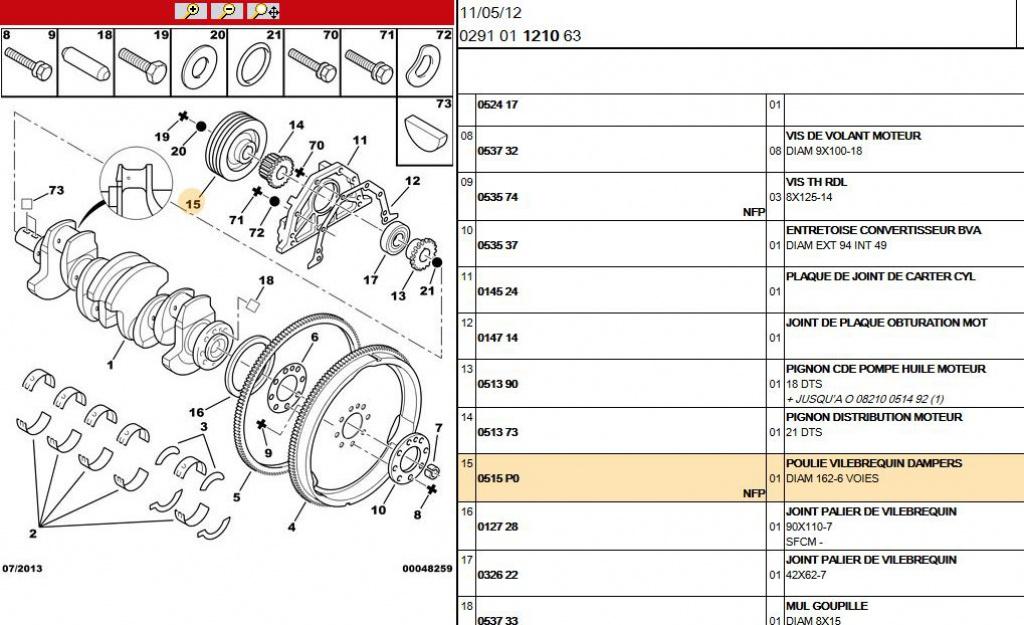 XUD9, poulie damper 1.9l td bva 681812Capture