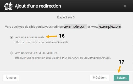 Propose tutoriel redirection nom de domaine externe acheté chez ovh v6 688264869