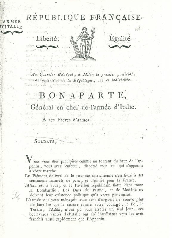La campagne d'Italie en 1796 717397CCI1103201400000