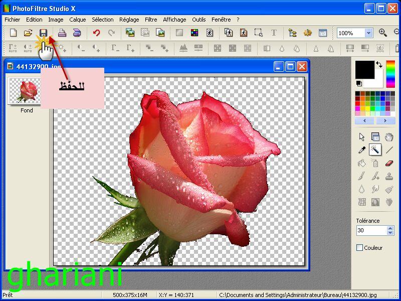 PhotoFiltre Studio X 10.9.2 721331326487rose2