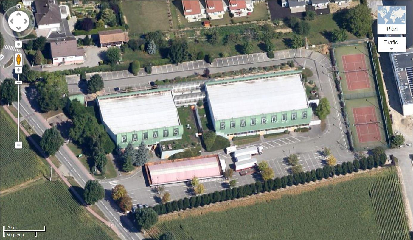 STREET VIEW : bâtiments insolites, hors normes, connus... - Page 5 721339Blotzheimpalaisbeaubourg1