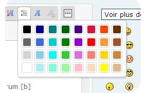 Personnaliser la palette de couleurs de l'éditeur 727070palette